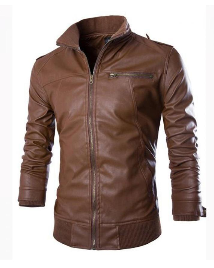 77157cb2f Brown Leather Jacket For Men