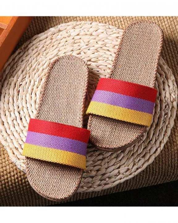 Multicolor Hemp Slipper for Women