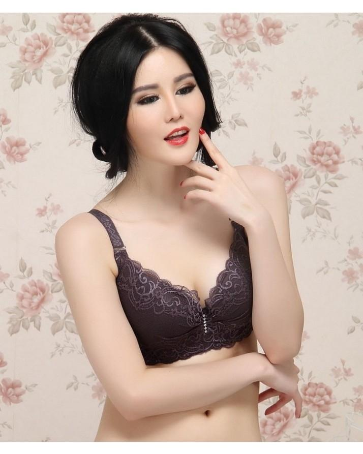 56499e0f9f Black Push Up Side Gathering Furu Lace Large Cup Bra  Buy Sell Online   Best  Prices in Pakistan