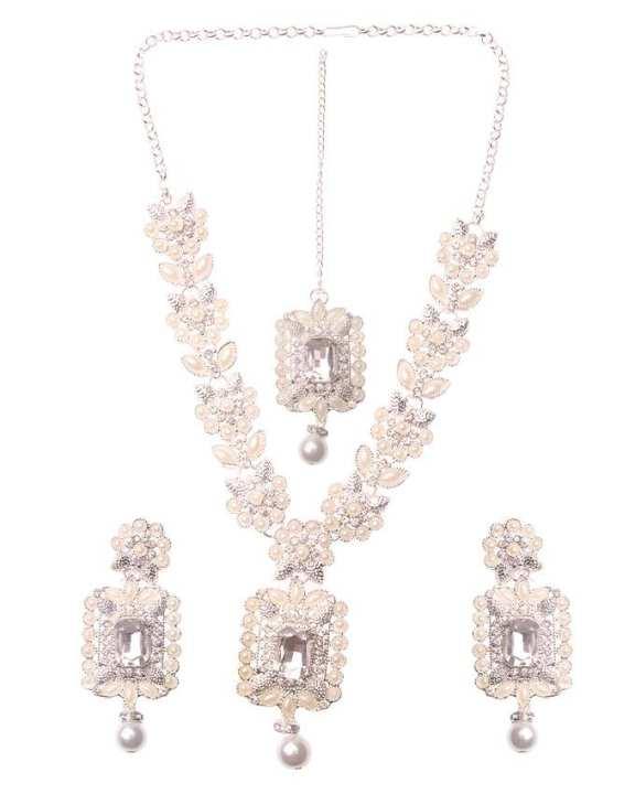 Lead Bridal Jewellery Set For Women - Silver