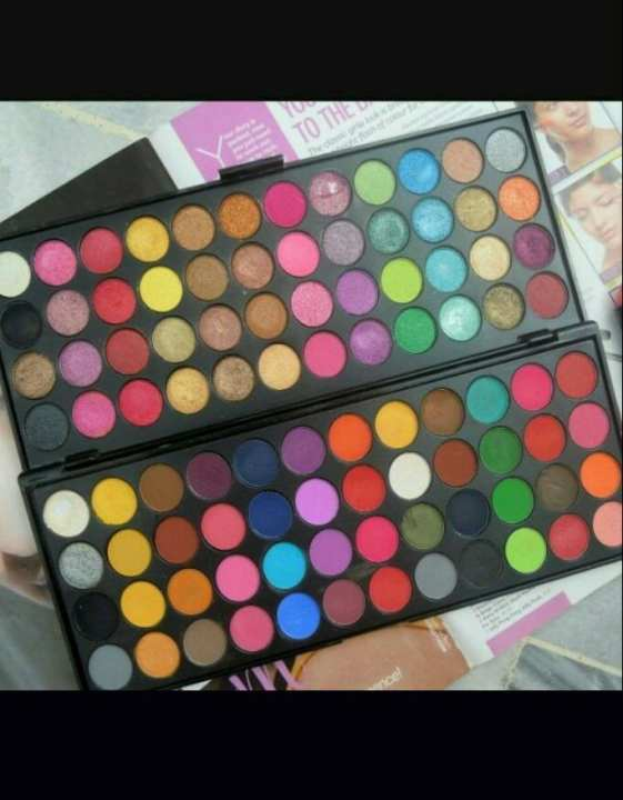 Glamorous makhmally + matte touch eyeshadow palette (48+48) 96 colors.