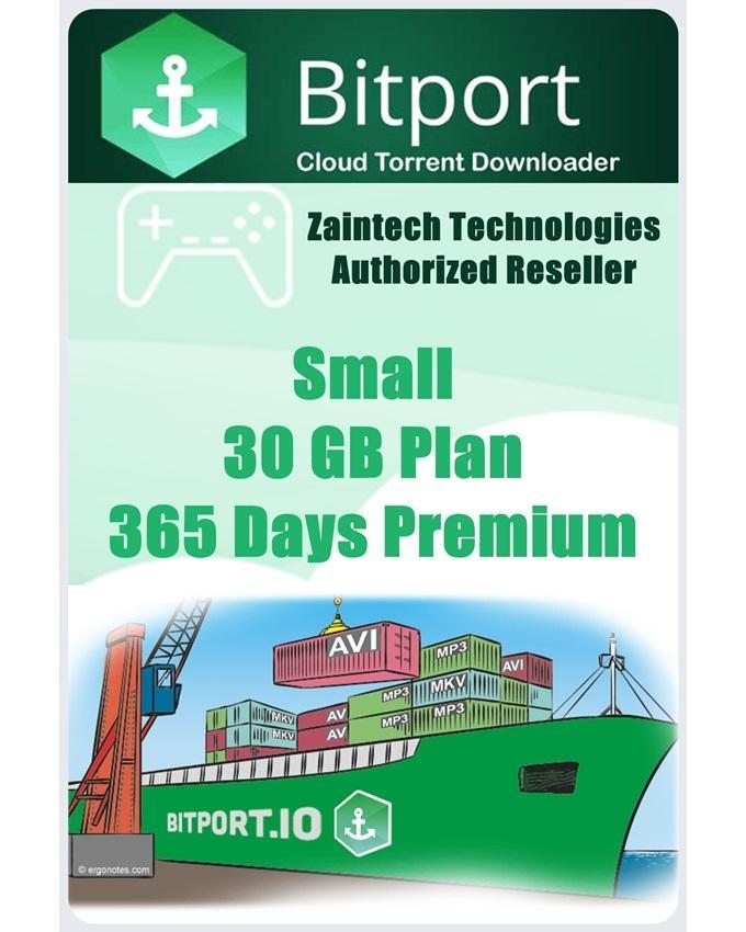 Bitport.io Premium - Plan Small - 30 GB