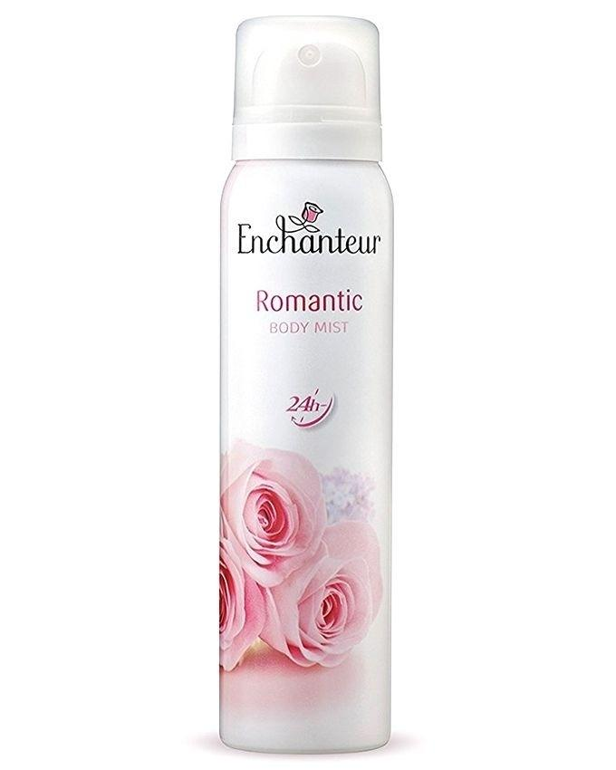 Pack of 4 - Perfumed Talc + Body Lotion + Rollon Deodorant + Body Mist - Romantic