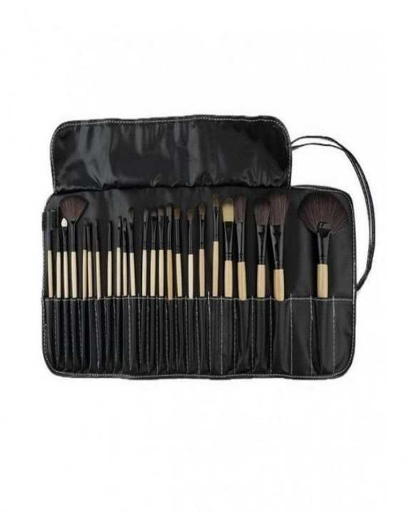 Pack of 24 - Cosmetic Brushes with Free Silicone SiliSponge