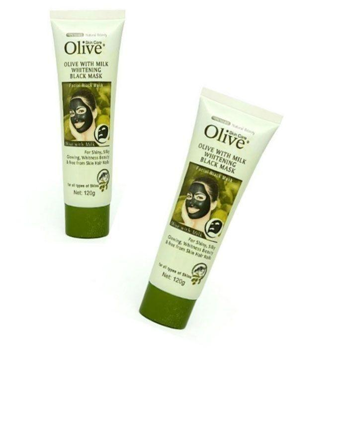 Pack of 2 - Olive With Milk Whitening Black Mask - 120g