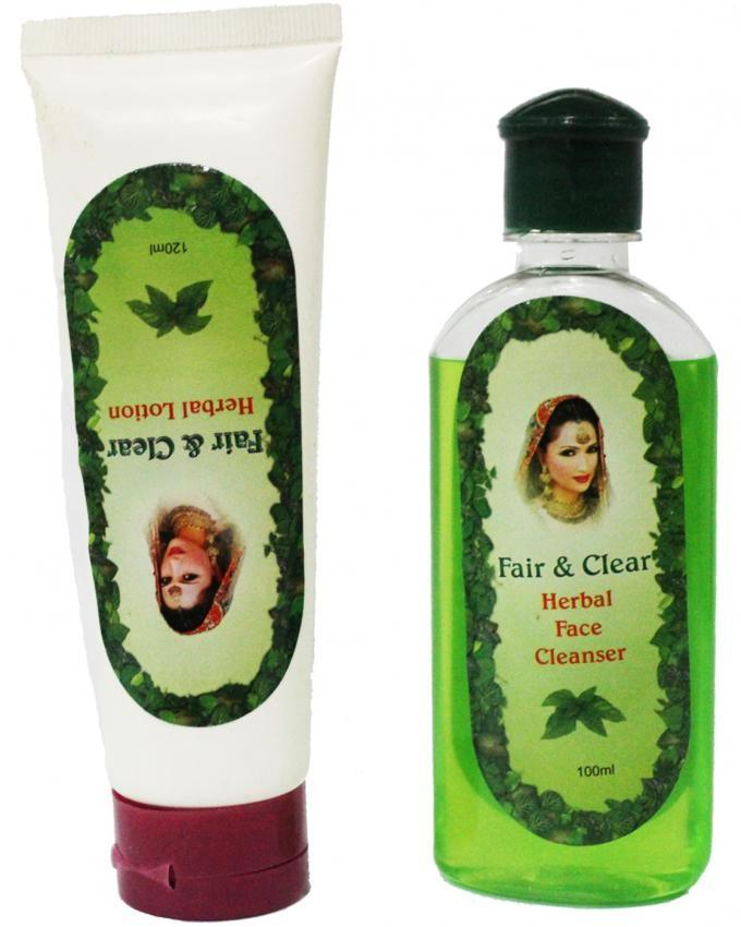 Pack of 2 - Fair & Clear Herbal Lotion + Face Cleanser