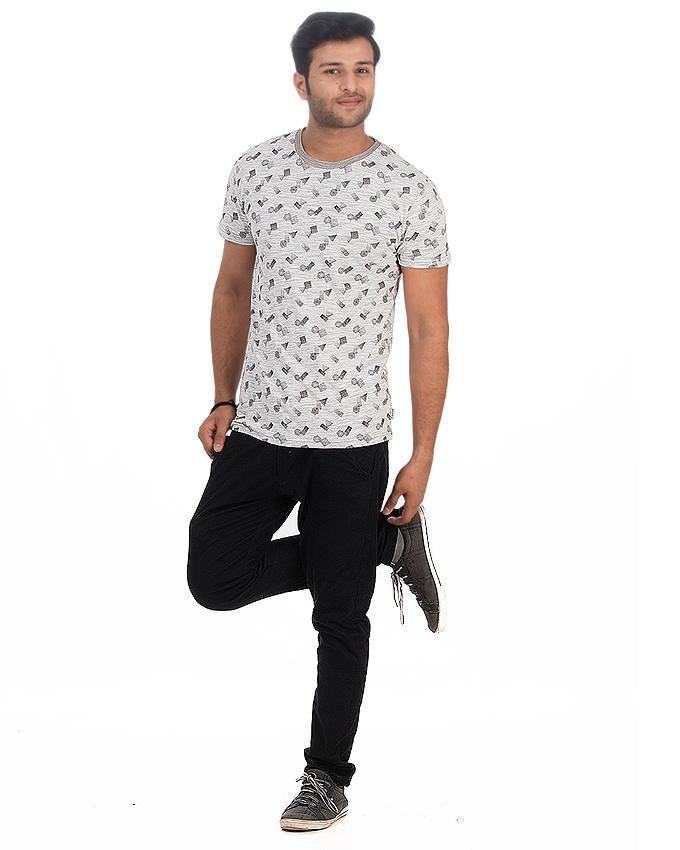 White Jersey Tshirt For Men - Ttc-003