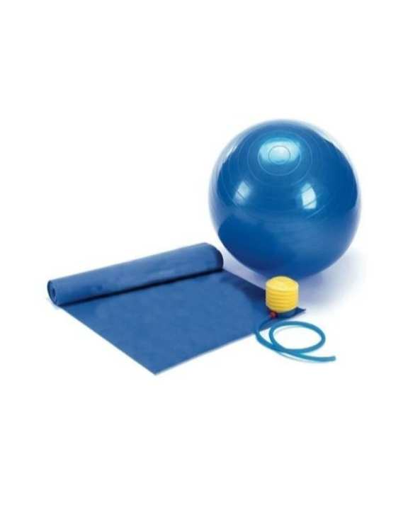 Yoga Mat & Anti Burst Gym Ball With Air Pump