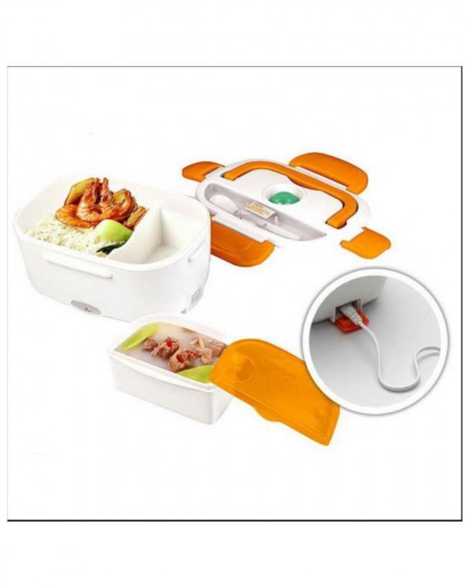 Electric Lunch Box - White & Orange
