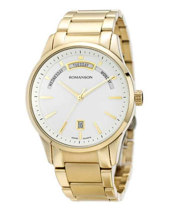 Romanson TM8237 MG WH - Stainless Steel Wrist Watch for Men