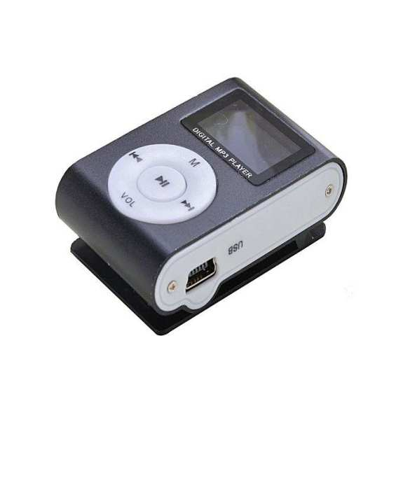 Mini Mp3 Player With Lcd Screen - Black