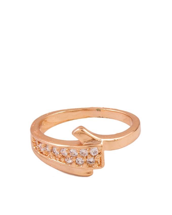 Golden Zircon Studded Ring