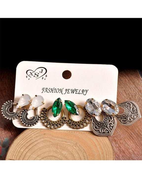 Pack Of 3 - Multicolor Metal Earring For Women