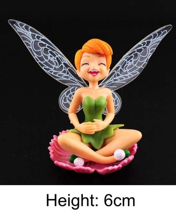 Tinker Bell Fairy Figures Miniature Garden Dollhouse Decor Doll Toy Gift