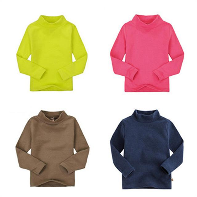 Pack Of 4 Full Sleeves High Neck T-Shirt For Girls & Boys Multicolour Winter Sweat Shirts
