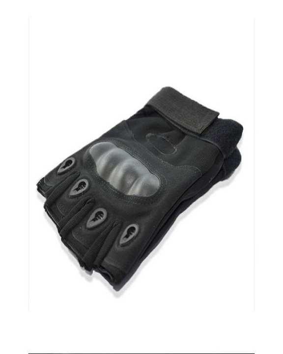 Tactical Half Finger Gloves For Men - Black