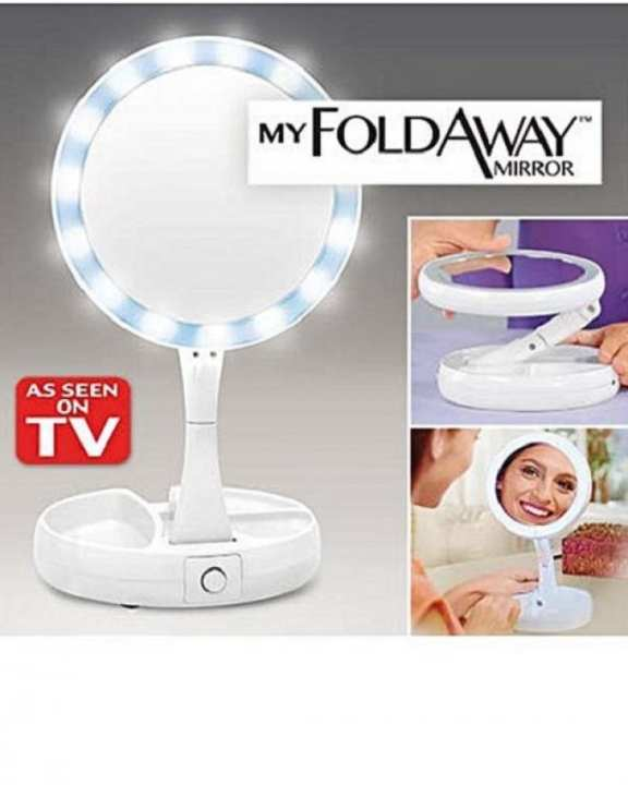 As Seen On Tv My Foldaway Led Light Bright Mirror