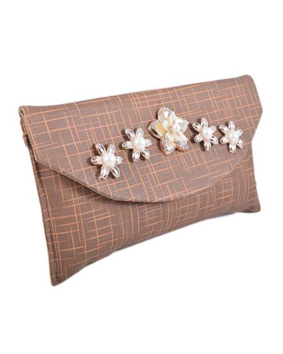 Chase Value Centre - Ladies Clutch 243 - Brown Color
