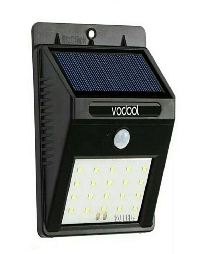 20 Leds Solar Powered Light - Automatic Pir & Light Sensor - 20Led-Solar