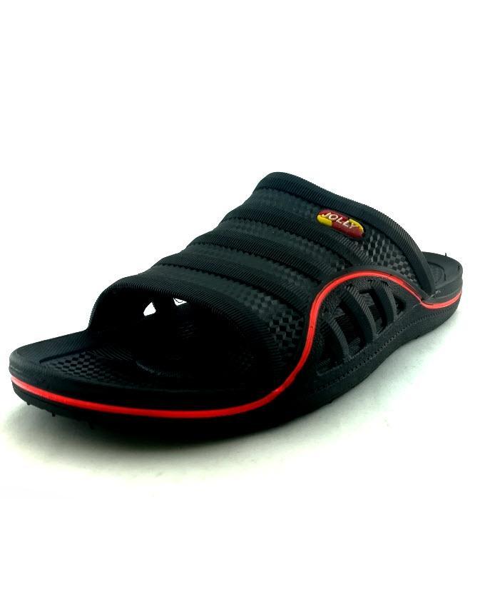 9e777ba42477 Black Rubber Slippers For Men