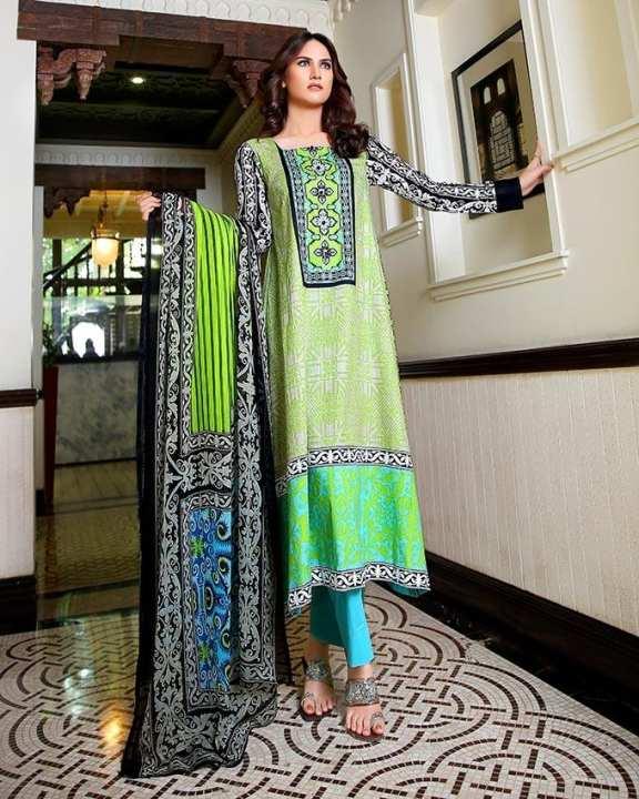 Sana & Samia Cotton Prints 3 Pc Suit