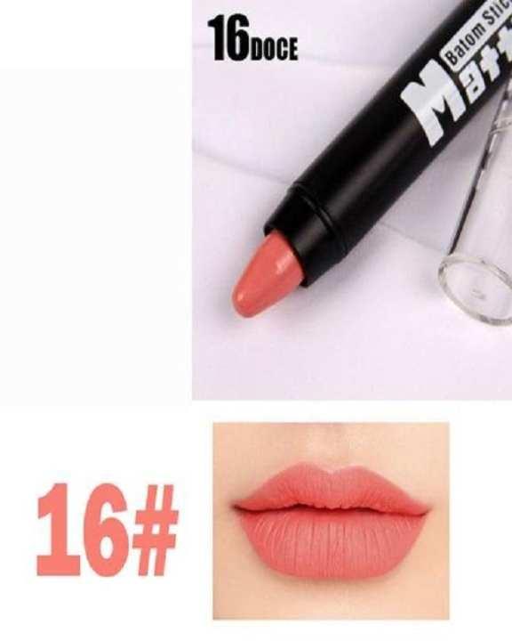 Peach Matte Crayon Lipstick  - Doce #16