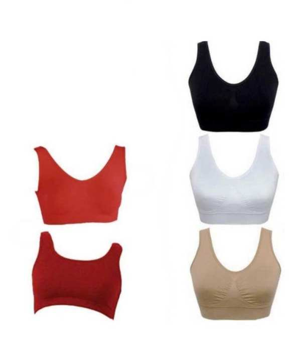 Pack of 5 - Cotton Air Bra For Women - Multicolors