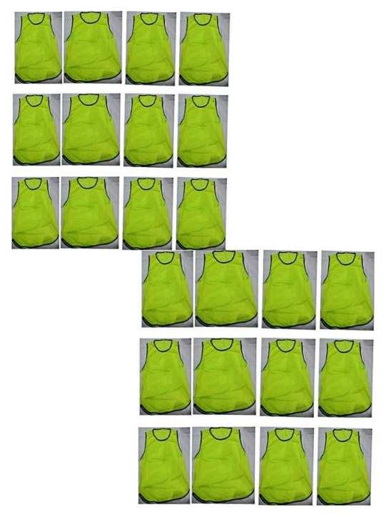 Football Bib-Vest In Mesh Training Vest 24 Pcs. GRN