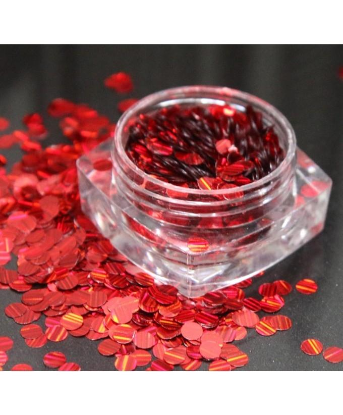 3g Red Glitter Pot For Nails