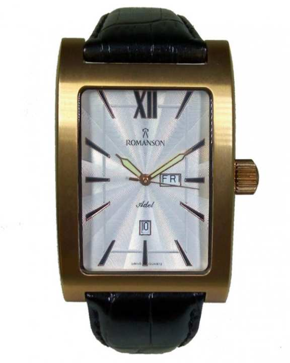 Romanson TL5108 MR WH - Stainless Steel Wrist Watch for Men