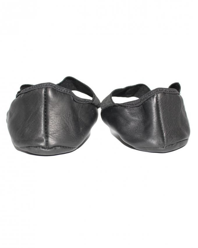 Leather Heel Covers for Men and Women - Black