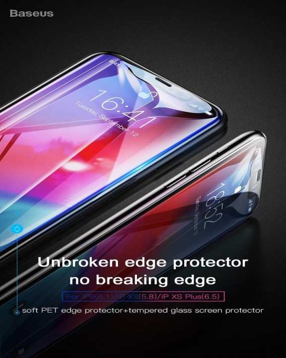 Iphone Xs Max 6.5 Glass Protector 0.3Mm - Black