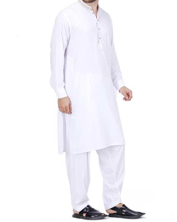 White P.V Regular Kameez Shalwar