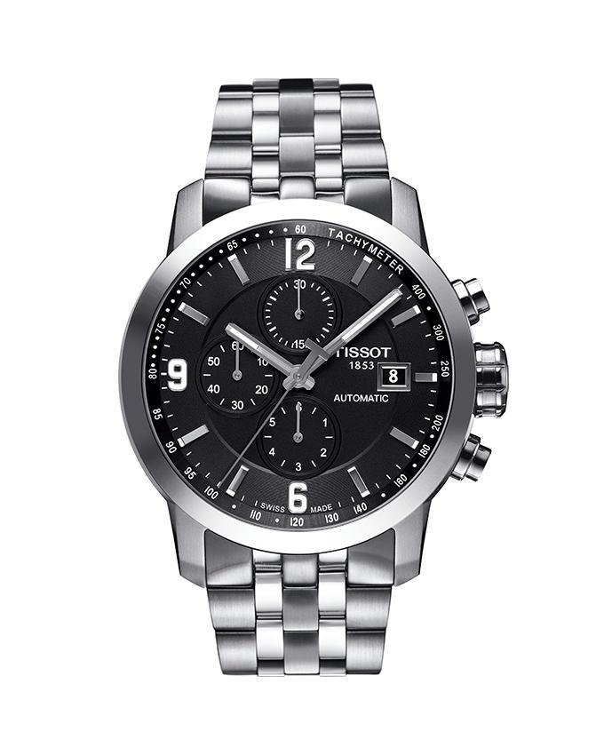 93c567fed65 Tissot T055.427.11.057.00 - Automatic Chronograph Watch for Men - Black &  Silver