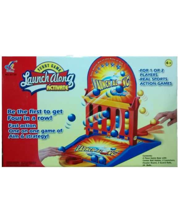 Launch Along Connect 4 Board Game For Kids - Multicolor