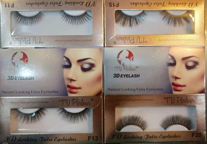 Pack of 4 T.v parlour 3D eyelashes