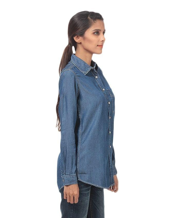2d877b0a5e8 Blue Denim Shirt For Women - MD-1786-D  Buy Online at Best Prices in  Pakistan