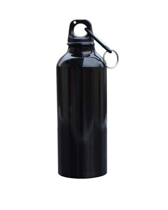 500ml Lightweight Stainless Steel Wide Mouth Drinking Water Bottle Outdoor Travel - Black