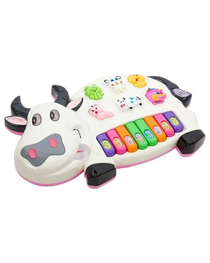 Pianism Cow Battery Operated Toy - Multicolor