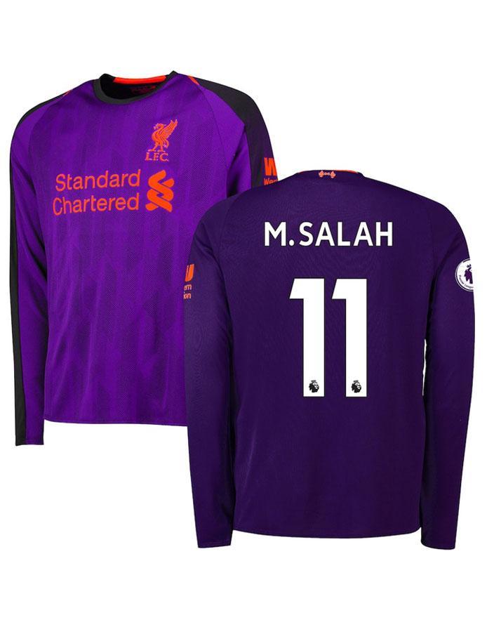 d467851c92c Liverpool M Salah 11 Away Shirt Kit 2018 19 Full Sleeve