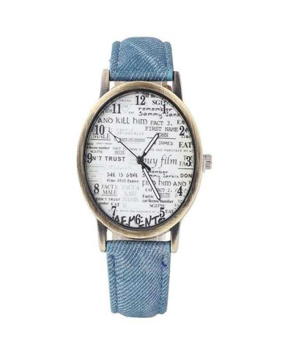 Blue Leather Watch for Women