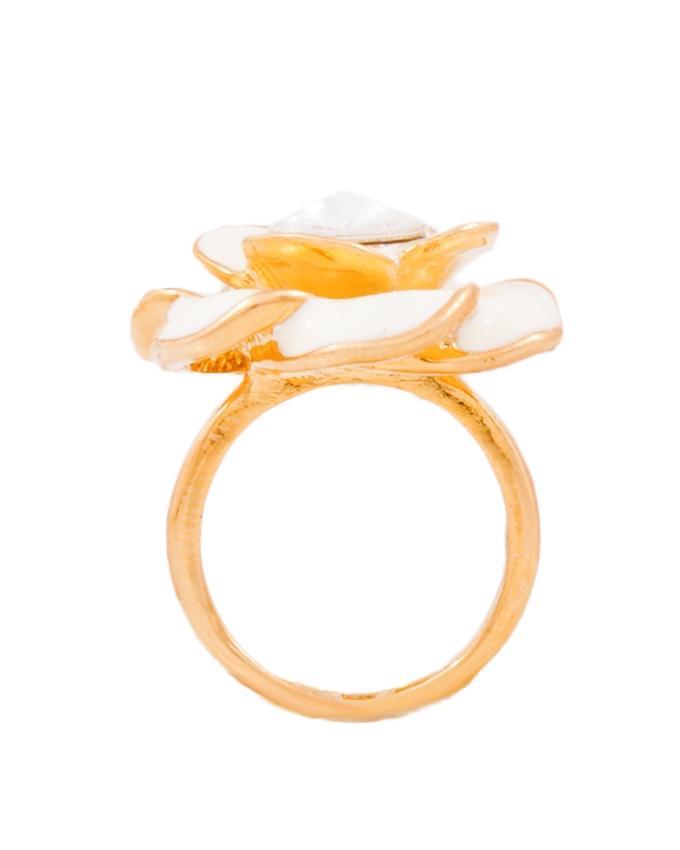 White Flower Ring