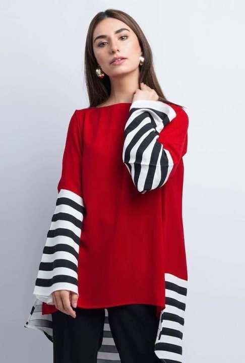 BRANDSTITCH - Red Striped LollyPop Shirt For Women