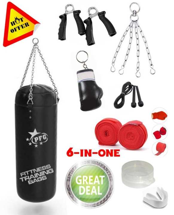 Boxing Gloves Punching Bag Hand Grip Bandages jump Rope Gum shield