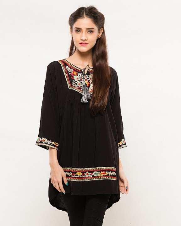 Black booski Embroidered Shirt