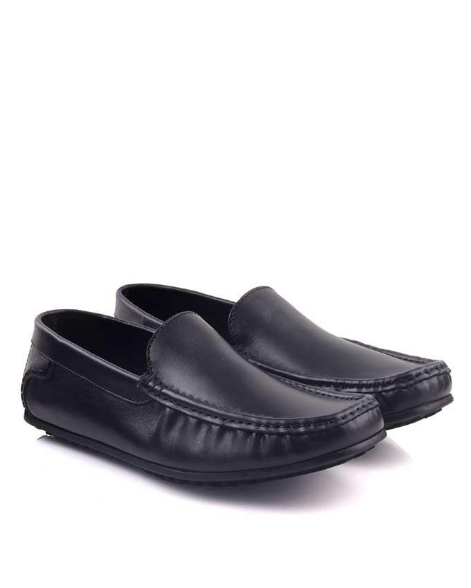 Black Leather Mocassins For Men - EP_1452