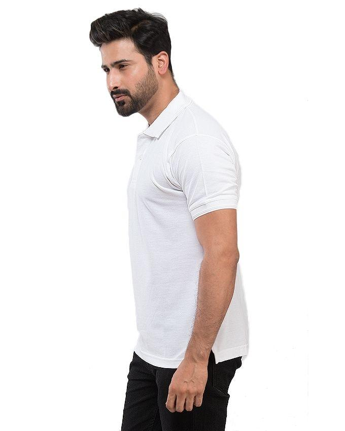 Pack of 2 - Black & White Cotton Polo Shirt for Men