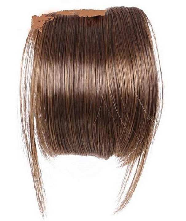 Fringe Bangs Clip Ons 6 Inch Short Straight Front Neat