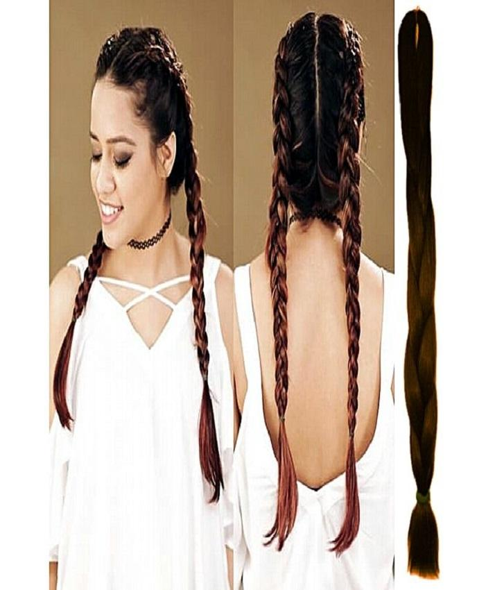Synthetic Braided Hair Extension For Women - Natural Brown