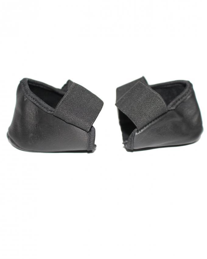 Black Leather Heel Covers